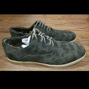 BedStu Footwear Suede Green Camouflage Shoes SZ 12